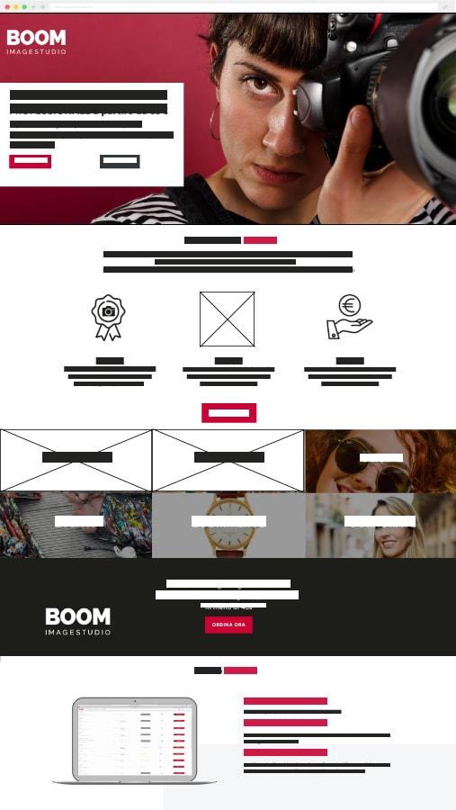boom image studio landing page