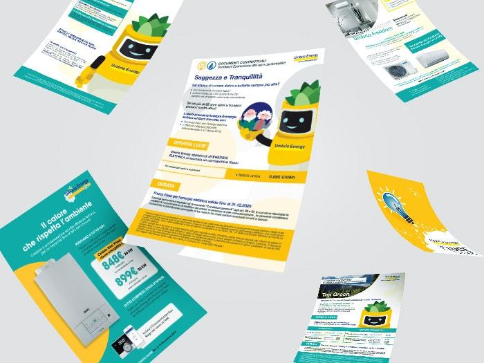 flyer e grafica umbria energy